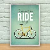 I want to Ride my Bicycle - Poster by Milli-jane Pooley, via Behance Bycicle Illustration, Bycicle Art Bullitt Bike, Creative Typography Design, Velo Vintage, Vintage Bicycles, Poster S, Bike Poster, Queen Poster, Bicycle Art, Bicycle Store