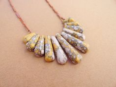 cute Mustard & White Howlight Necklace - on Etsy by DirdyBirdy (sold)