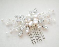 Bridal Hair Comb Art Deco Hairpiece Bridal by SarahWalshBridal