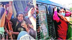 Hardik Patel Amit Chavda Gujarat Cong workers detained ahead of Pratikar rally Rajiv Gandhi, Indian Express, Police Officer, Rally, Women, Woman
