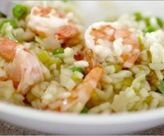Shrimp Risotto with Sweet Peas and Leeks Recipe