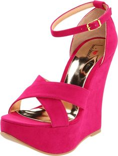 Hot pink summer wedge shoes 2013 by Luichiny