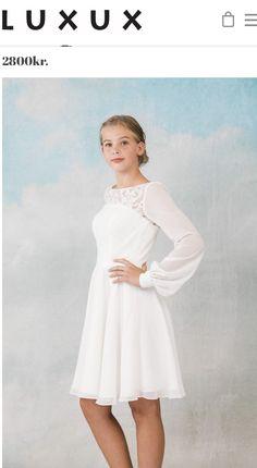 5efdf17dbb9 De 19 bedste billeder fra Kjoler | White dress, Cute dresses og Long ...