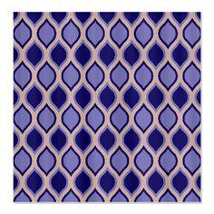 Dew Drop Wavy Lattice Pattern Shower Curtain