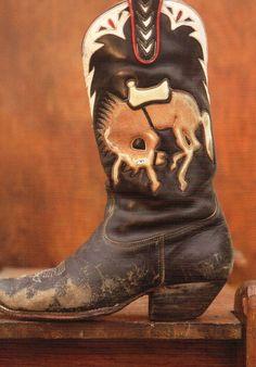 'Empty Saddle'  circa 1980's  Chris Romero, Austin TX