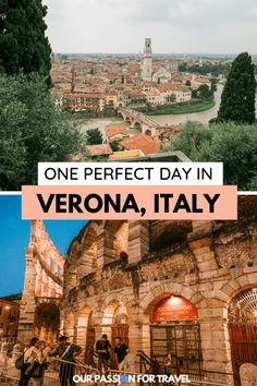 With its romantic history, impressive ampitheater and stunning rooftops, 1 day in Verona needs to be on your northern Italy itinerary. Cool Places To Visit, Places To Travel, Places To Go, Vicenza Italy, Puglia Italy, Holland, Italy Travel Tips, Budget Travel, World Travel Guide