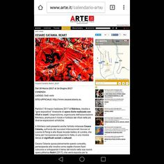 "Many thanks to ""ARTE"" magazine for this article.    @arteit   For full article  https://goo.gl/RsgtBh    "" CESARE CATANIA. ReART  From 18thMarch 2017 - 16thJune 2017  LOCATION: Various locations  OFFICIAL WEBSITE: www.cesarecatania.eu  The 2017 edition of RiArteco will start on March 18 a promotional exhibition itinerant of works of art made from waste and waste products. The exhibition organized by RiArteco promotes the recycling and use of waste in the most diverse artistic expressions…"