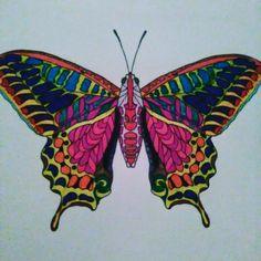 """""""Dobro rodzi się wtedy, gdy człowiek zapomina o sobie."""" #wkońcuznalazłammojekolorowanki#kolorowankidladorosłych#kolorowanka#motyl#butterfly#kolorowymotyl#rysunek#draw#flamastry#kredki#odpoczynekwdomu#kolorowankiantystresowe."""