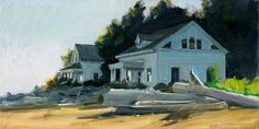 Lighthouse Keepers Houses by gretchenhancock on Etsy, $200.00