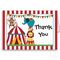 16 Best Circus Thank You Cards Images Appreciation Cards Thank