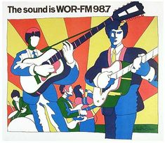 "Milton Glaser, ""The Sound is WOR-FM 98.7,"" 1966"