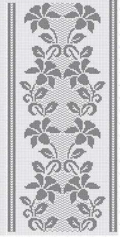 Techniques To Boost Sales on the business of interior design (Pattern) - Crochet Filet Cross Stitch Borders, Cross Stitch Designs, Cross Stitch Patterns, Filet Crochet Charts, Crochet Stitches, Crochet Patterns, Crochet Table Runner Pattern, Crochet Tablecloth, Crochet Bedspread