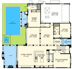 Plan 13545BY Palatial Estate with Grand Double Staircases