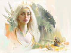 Daenerys, Aleksei Vinogradov on ArtStation at https://www.artstation.com/artwork/daenerys-d698bbc9-dfa7-4060-b0d9-55fe982f2d7c