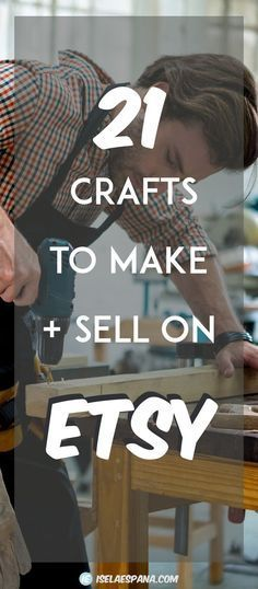What to sell on Etsy - 21 crafts to make and sell on Etsy. Make money from home. Sell on Etsy. Learn How to create crafts to sell. >> PIN AND SAVE AS RESOURCE!