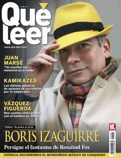 """Revista QUÉ LEER 206, portada de febrero 2015. Boris Izaguirre persigue el fantasma de Rosalind Fox. Juan Marsé: """"Un escritor sin memoria no es nada""""."""