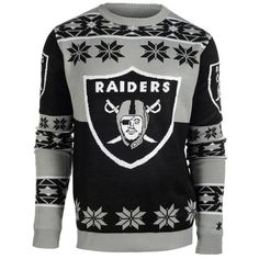 26fbd0957d3 ... Oakland Raiders team merchandise. Nhl JerseysPittsburgh SteelersNfl  Oakland RaidersRaiders BabyRaiders ShirtRaiders StuffUgly SweaterUgly  Christmas ...