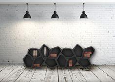 Les designers britanniques Jack Godfrey Wood et Tom Ballhatchet ont réalisé pour la marque de meubles Movisi, la structure Build. Elle est constituée d'une série d'unités identiques que l'on assemble comme une mosaïque tout en choisissant l'orientation.