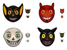 Free Vintage Halloween Mask Icons