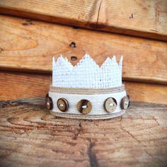 Dominic Baby Button Crown Newborn Photo Prop- Ready to Ship