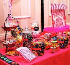 "candy ""bar"" ideas; you can personalize the jar with themed names"