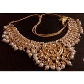 Designer Kundan Gold Plated Necklace Set