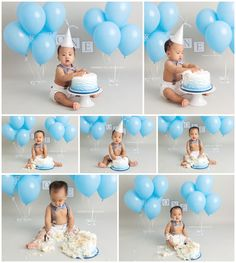 Baby Boy Cake Smash - Blau www. Los Angeles Baby Boy Cake Smash - Blau www. Baby First Cake, Baby Cake Smash, Baby Boy Cakes, Smash Cakes, Cake Smash Outfit, Festa Mickey Baby, Theme Mickey, Boys First Birthday Cake, Baby Boy 1st Birthday Party