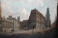 The Bank of England and the Royal Exchange, London, c.1790, William Marlow. Bank of England Museum...  From...  http://www.bbc.co.uk/arts/yourpaintings/paintings/the-bank-of-england-and-the-royal-exchange-london-c-1790-50210