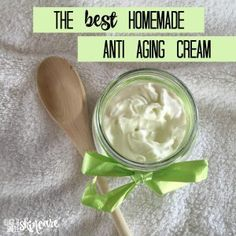 ALL NATURAL HOMEMADE ANTI AGING CREAM - Get the recipe now! #antiagingcream #diyskincare