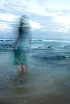 ☽ Dream Within a Dream ☾ Misty Blurred Art and Fashion Photography - blue mirage