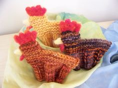 Waldorf Knit Chickens