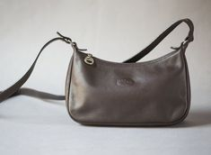 8854561000 Longchamp Bag Small Dark Brown. Vintage Cross Body Bag Genuine leather. Authentic  Longchamp Bag Brown. Parisian Women's Shoulder Bag Retro