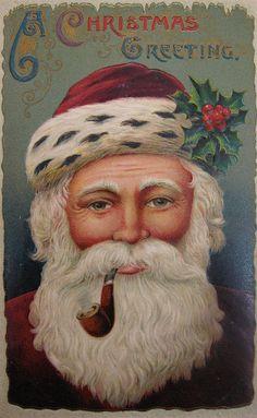 I love vintage postcards and cards Love Vintage, Images Vintage, Vintage Christmas Images, Noel Christmas, Victorian Christmas, Father Christmas, Vintage Holiday, Christmas Pictures, Christmas Greetings