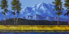Blue Mountain - Acrylic on Canvas - Tim Gagnon Studio offers a wide variety of online and DVD instructional art lessons in acrylic and oil. He has over 7000 students from around the world and his paintings are collected in over 30 different countries. Visit www.timgagnon.com for more information!