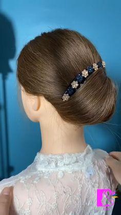Hairdo For Long Hair, Bun Hairstyles For Long Hair, Hair Updo, Front Hair Styles, Medium Hair Styles, Hair Style Vedio, Hair Tutorials For Medium Hair, Hair Videos, Hair Designs