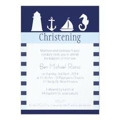 Shop Boys Nautical Christening Baptism Invitation created by Sugar_Puff_Kids. Baptism Invitation For Boys, Christening Invitations, Nautical Baptism, Nautical Theme, Nautical Invitations, Zazzle Invitations, Light Navy Blue, Shops, Like Image