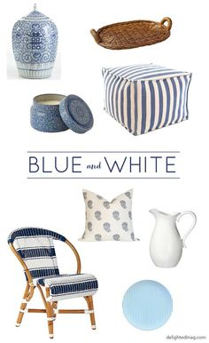 Home Finds: Blue & White