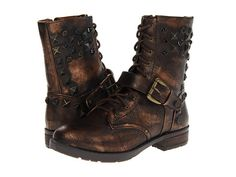 MIA Spikke   I want these so bad. I love the distressed leather look