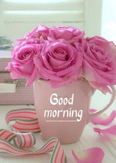 Nice Good Morning Images, Good Morning Nature, Good Morning Love Messages, Good Morning Flowers Rose, Good Morning Flowers Pictures, Morning Pictures, Rose Flowers, Good Night Greetings, Good Morning Wallpaper