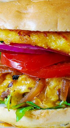 Jalapeno Cheeseburgers With Bacon And Grilled Onions Recipe ...