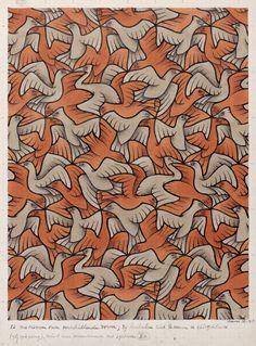 M.C. Escher - Twelve Birds , 1948. WikiPaintings.org