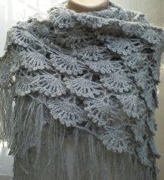 Crochet fans shawl