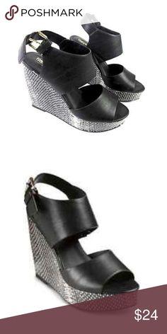 "Selling this Black and White 4"" Wedges on Poshmark! My username is: infinitelyposh. #shopmycloset #poshmark #fashion #shopping #style #forsale #Shoes"