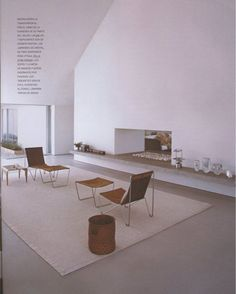Minimalistic Living Room Design By John Pawson