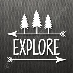Explore Bumper Sticker Vinyl Decal Car Decal Truck Sticker Hiking Macbook Decal