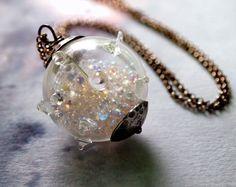 Amoeba Glass Wonder Globe Pendant Full of by RenataandJonathan, $85.00 #jewelry