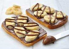 nutella & banana toast