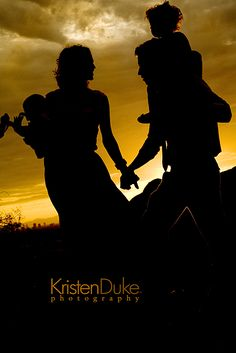 I love, love a family silhouette #silhouette #photography kristendukephotography.com
