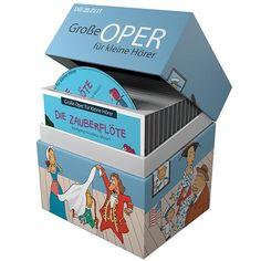 Opern-Hörspiele für Kinder: In 12 musikalischen Hörspielen der ZEIT-Edition »Große Oper für kleine Hörer« werden die beliebtesten Opern kindgerecht nacherzählt. Die Handlungen wurden an die...