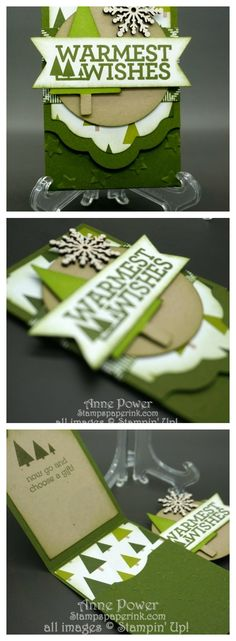 Quick and easy little Gift card holder featuring the online only stamp set Christmas Bliss